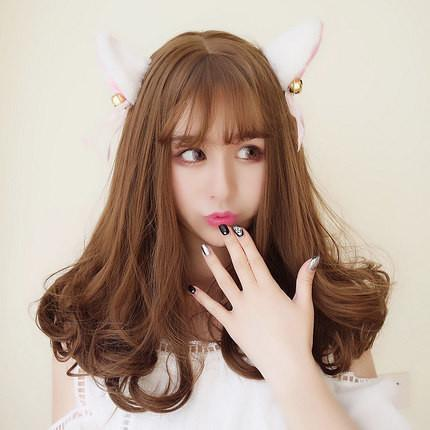 Harajuku Curly End Light Brown Wig SD00637