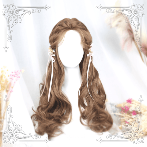 Honey Pudding Brown Wave Long Wig SD00207