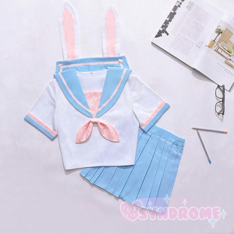 Bunny Pastel Carrot School Uniform SD00232 - SYNDROME - Cute Kawaii Harajuku Street Fashion Store
