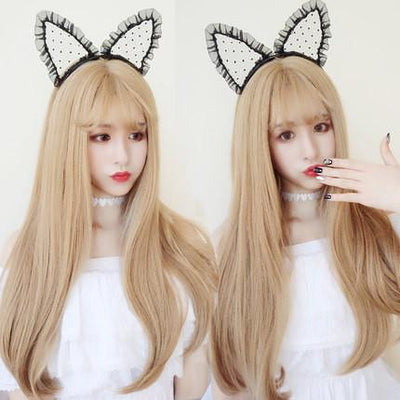 Blonde Straight Long Wig SD00642 - SYNDROME - Cute Kawaii Harajuku Street Fashion Store