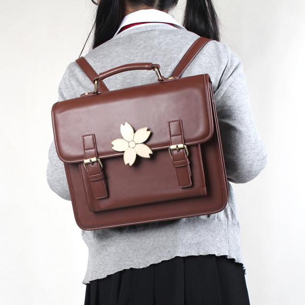 Japanese School Sakura Hand Backpack SD01349 - SYNDROME - Cute Kawaii Harajuku Street Fashion Store