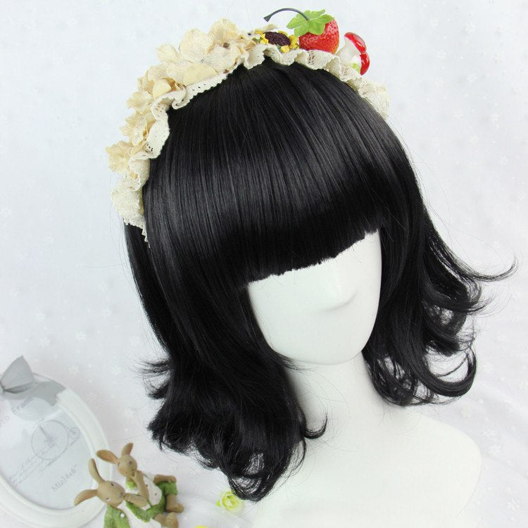 Harajuku Natural Black Wig SD00721 - SYNDROME - Cute Kawaii Harajuku Street Fashion Store