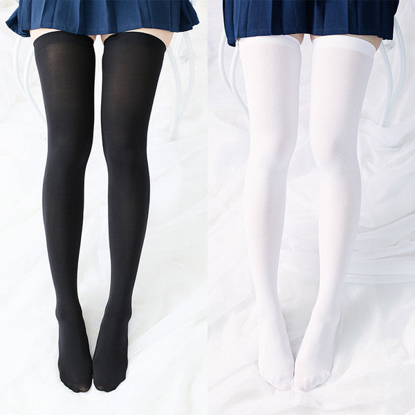 775ed298f43f9 Japanese School Girls Black/White Knee Socks Tights SD02388 – SYNDROME -  Cute Kawaii Harajuku Street Fashion Store