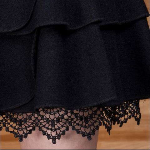 Korean Winter Woolen Waist Tutu Skirt SD01633