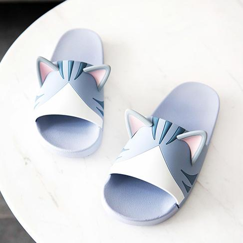 Japanese Kawaii Cat Ears Slippers Shoes SD01076