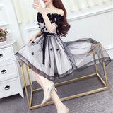 Flawless Mesh Elegant Dress SD00540 - SYNDROME - Cute Kawaii Harajuku Street Fashion Store