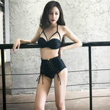 Black Corset Underwear 2 Piece Swimsuit SD00177 - SYNDROME - Cute Kawaii Harajuku Street Fashion Store
