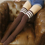 Japanese School Striped Knee Socks SD01978 - SYNDROME - Cute Kawaii Harajuku Street Fashion Store