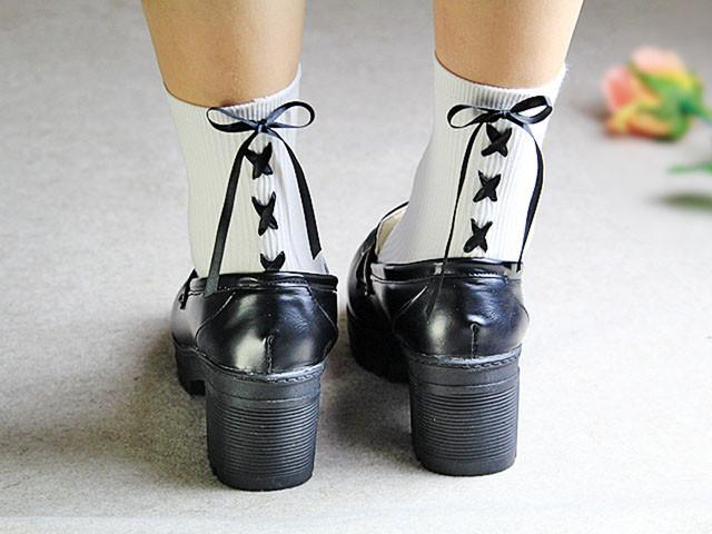 Cute Cross Bow Tie Short Socks SD01958 - SYNDROME - Cute Kawaii Harajuku Street Fashion Store