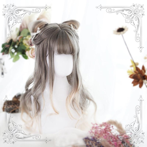 Harajuku lolita grey blond long wig SD01050 - SYNDROME - Cute Kawaii Harajuku Street Fashion Store