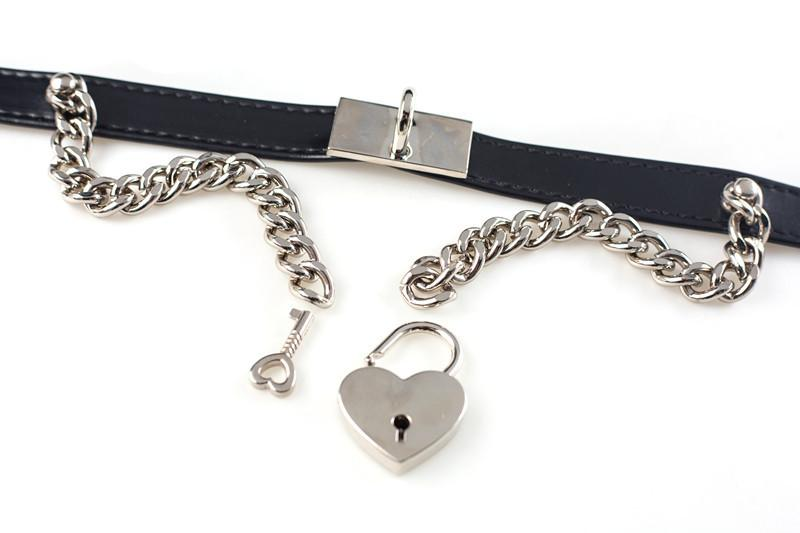 Chain Heart Locker Neck Strap Collar Choker SD00101 - SYNDROME - Cute Kawaii Harajuku Street Fashion Store