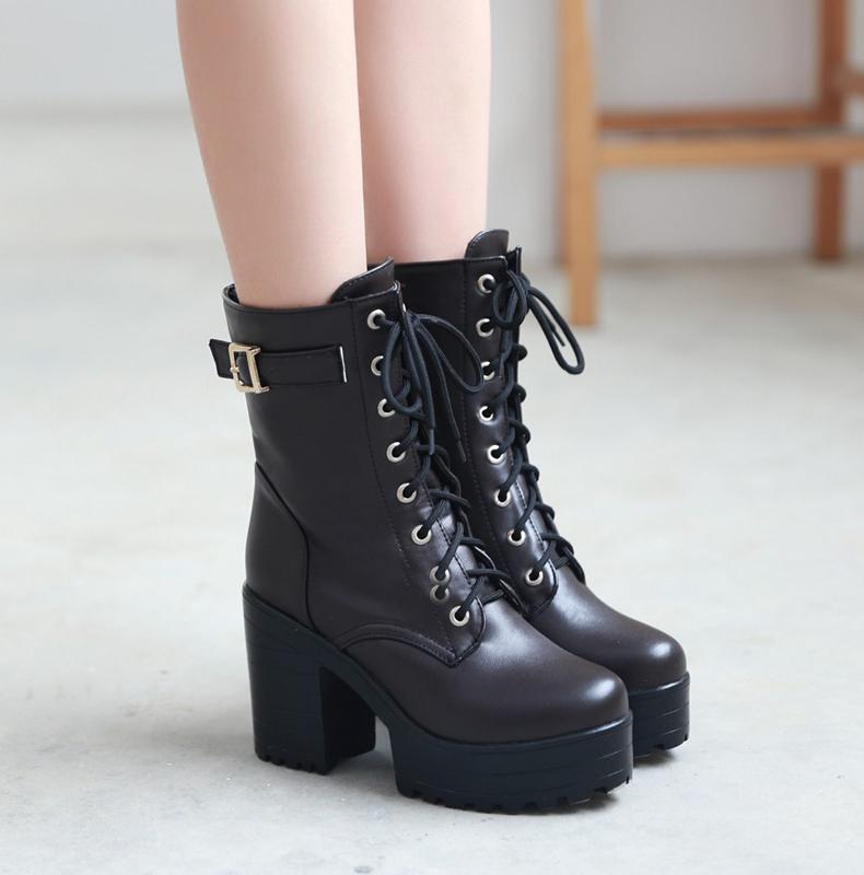 3d214bb2add Martin Strap Boots Shoes SD01149 – SYNDROME - Cute Kawaii Harajuku ...
