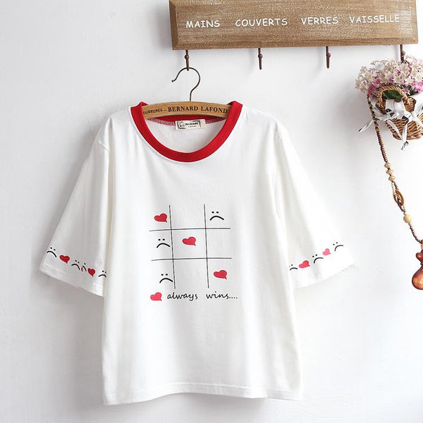Love Always Wins T-shirt SD01704 - SYNDROME - Cute Kawaii Harajuku Street Fashion Store