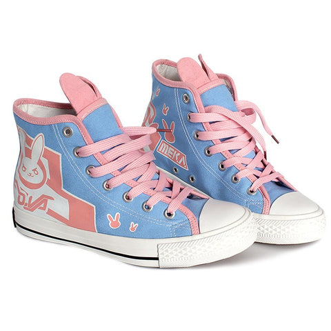 Overwatch D.VA Bunny Shoes SD01470 - SYNDROME - Cute Kawaii Harajuku Street Fashion Store