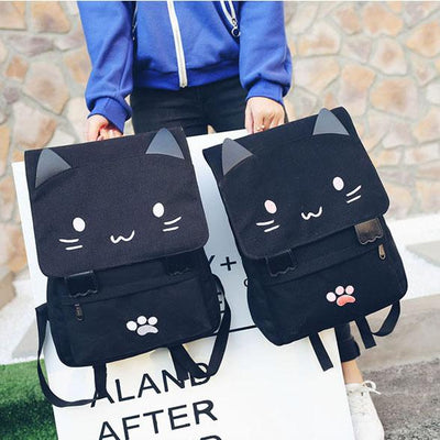 Cat Ears Canvas Backpack SD00730 - SYNDROME - Cute Kawaii Harajuku Street Fashion Store
