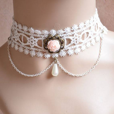 Daisy Pearl Rose Collar SD00221 - SYNDROME - Cute Kawaii Harajuku Street Fashion Store