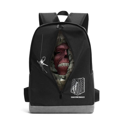 Attack On Titan Zipper Titan Backpack SD00186 - SYNDROME - Cute Kawaii Harajuku Street Fashion Store