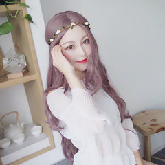 Harajuku Gradient Purple Long Wave Wig SD00675 - SYNDROME - Cute Kawaii Harajuku Street Fashion Store