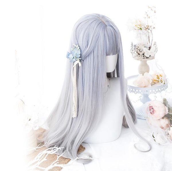 Silver Gradient Long Wig SD00176 - SYNDROME - Cute Kawaii Harajuku Street Fashion Store
