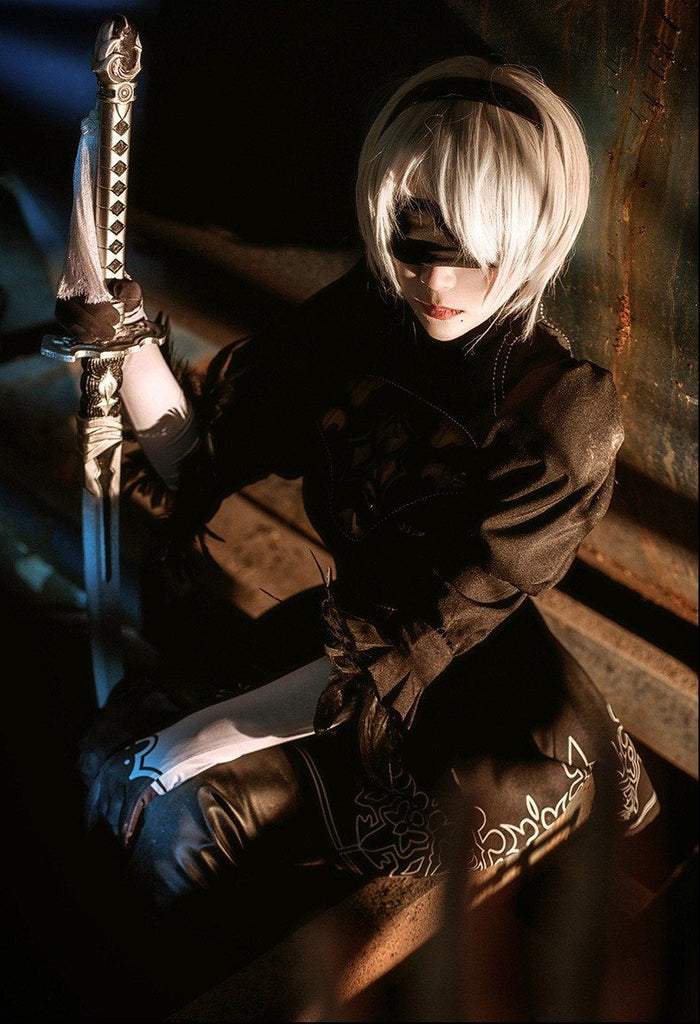 Premise Indicator Words: Nier Automata 2B Cosplay Costume SD02256