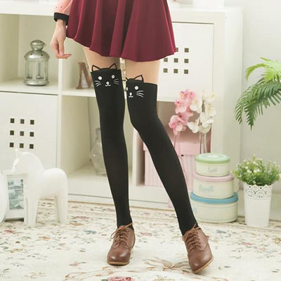 Kitty Cat Tail Tights SD00013 - SYNDROME - Cute Kawaii Harajuku Street Fashion Store