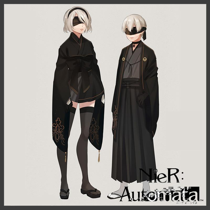 Premise Indicator Words: Nier Automata 2B 9S Kimono Set SD02159
