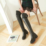 High Knee Buckle Casual Boots Shoes SD00241