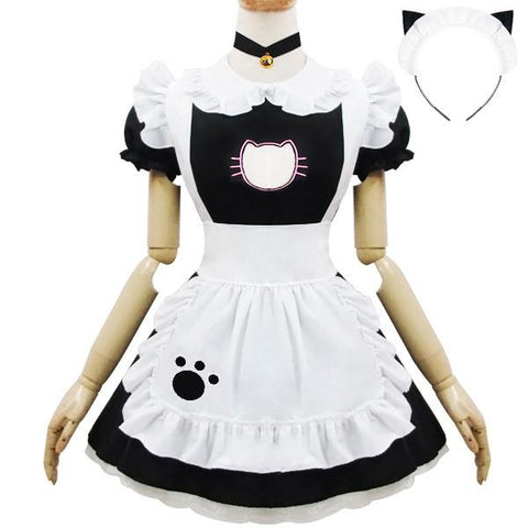 Kawaii Kitty Cat Keyhole Hollow Maiden Costume SD02080
