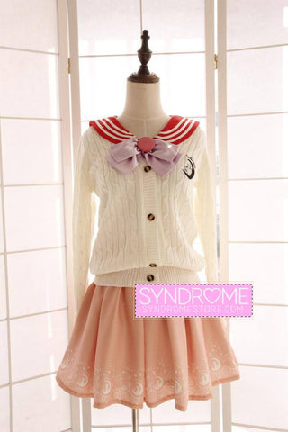 Japanese Sailor Moon Woolen Long-Sleeved Cardigan Sweater SD00254
