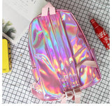 Japanese Harajuku Holo Holographic Iridescent Strawberry Milk Backpack SD01728