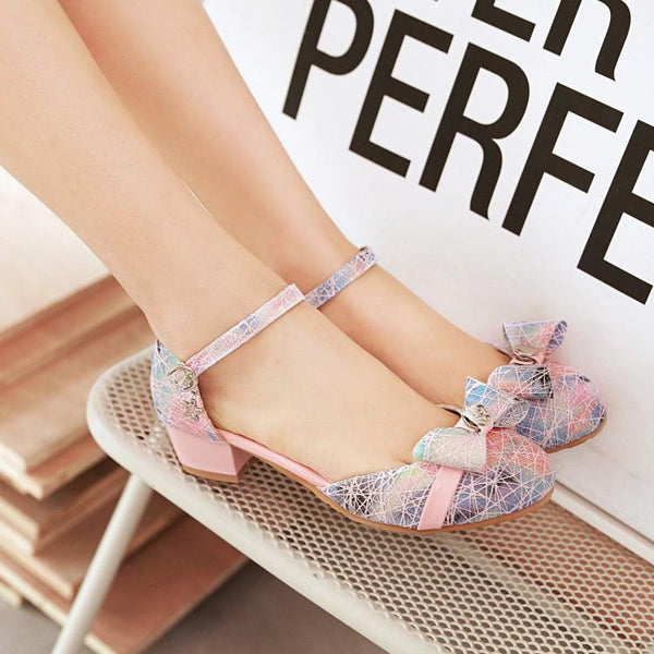 Buckle Ribbon Short-Heels Shoes SD00191 - SYNDROME - Cute Kawaii Harajuku Street Fashion Store