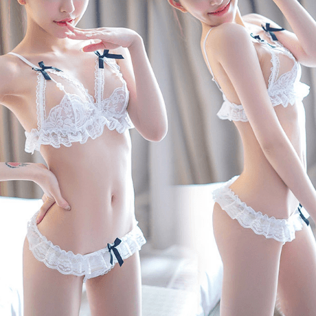 Sexy Lace Pearl Ribbon Lingerie Set SD00081 - SYNDROME - Cute Kawaii Harajuku Street Fashion Store
