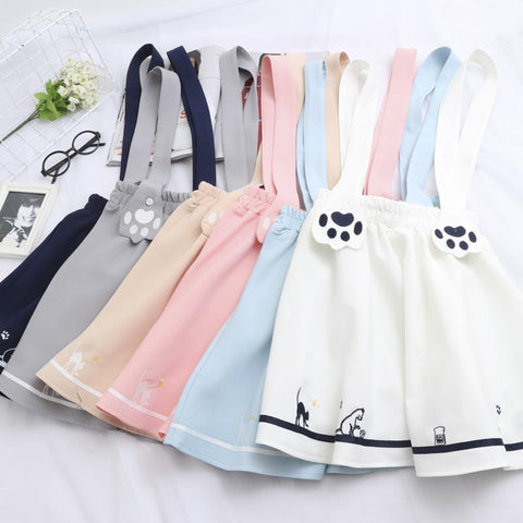 Japanese Harajuku Cute Kitty/Cat Paws Strap Skirt SD02401