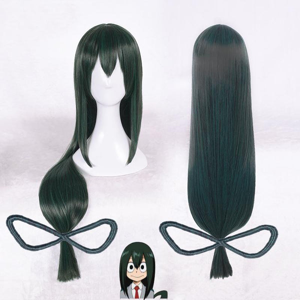 My Hero Academia Tsuyu Asui Green Long Wig SD01601