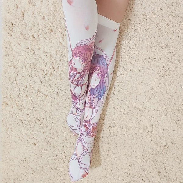 Anime Girl Bondage Thigh High Tights Socks SD00349 - SYNDROME - Cute Kawaii Harajuku Street Fashion Store