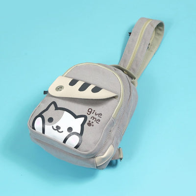 Neko Atsume Shoulder Backpack SD00455 - SYNDROME - Cute Kawaii Harajuku Street Fashion Store