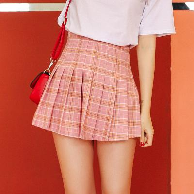 Japanese Summer High Waist Plaid skirt SD01648