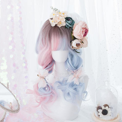 Pink Blue Gradient Long Wig SD00175 - SYNDROME - Cute Kawaii Harajuku Street Fashion Store