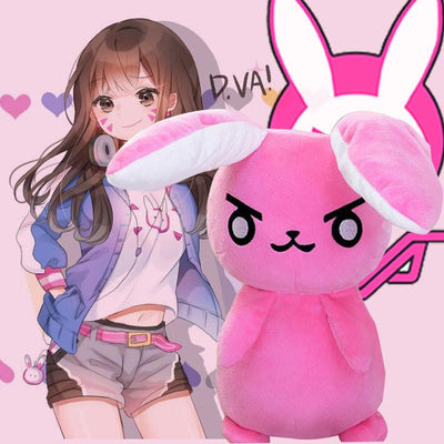 Overwatch D.VA Bunny Plush Toy SD01450 - SYNDROME - Cute Kawaii Harajuku Street Fashion Store