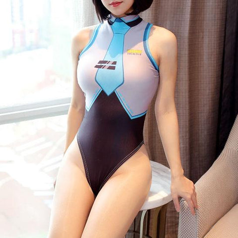 Vocaloid Hatsune Miku High Cut Hip Leg Swimsuit SD01924 - SYNDROME - Cute Kawaii Harajuku Street Fashion Store
