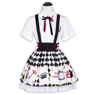 Alice In Wonderland Set SD02085 - SYNDROME - Cute Kawaii Harajuku Street Fashion Store