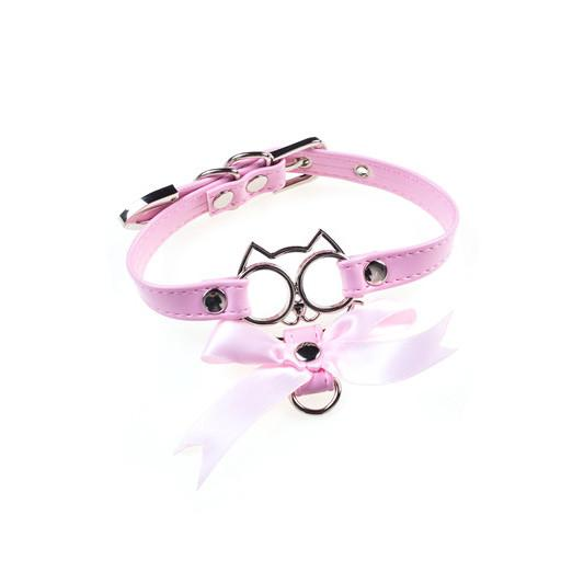 Harajuku Japanese Cat Face Bowknot Collar Choker SD02094 - SYNDROME - Cute Kawaii Harajuku Street Fashion Store