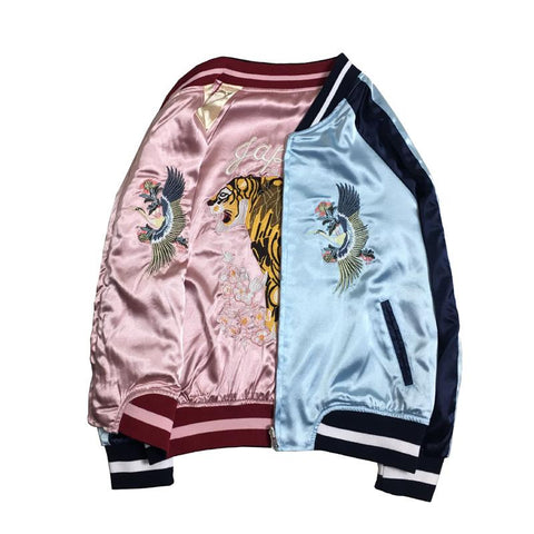 Japanese Okinawa Tiger Embroidery Baseball Jacket SD01386 - SYNDROME - Cute Kawaii Harajuku Street Fashion Store