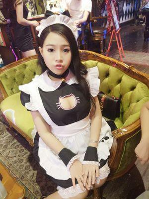 Kawaii Kitty Cat Hollow Chest Keyhole Maiden Costume Dress SD02080