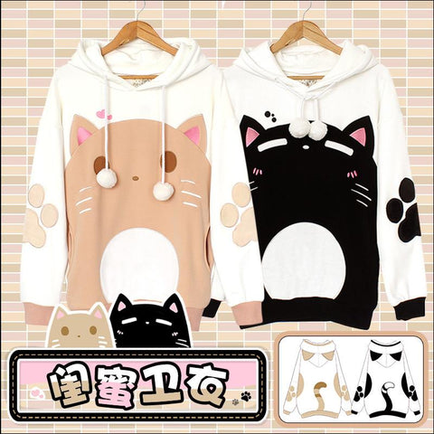 Japanese Kawaii Neko Cat Warm Hoodie Sweater SD02018