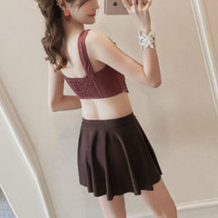 Korean Summer Ruffle Strap 3 Piece Swimsuit SD01617