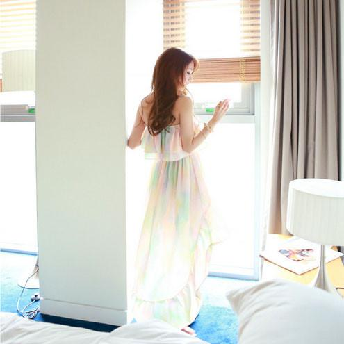 Korean summer Lotus leaf chiffon skirt beach dress SD02478 - SYNDROME - Cute Kawaii Harajuku Street Fashion Store