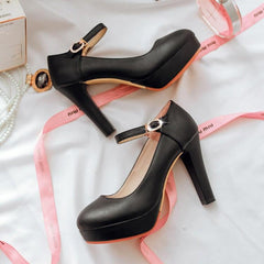 Diamond Strap High-Heel Shoes SD00119 - SYNDROME - Cute Kawaii Harajuku Street Fashion Store