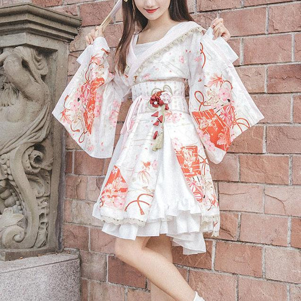Japanese harajuku chic kimono dress SD00668 - SYNDROME - Cute Kawaii Harajuku Street Fashion Store