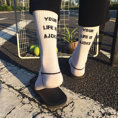 Your Life is a Joke High Socks SD00801 - SYNDROME - Cute Kawaii Harajuku Street Fashion Store